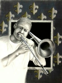 TrombonePlayer of the street. French quarter music is a part of the soul