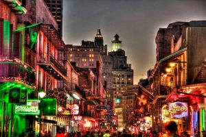Bourbon Street at Christmas