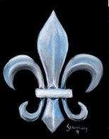 Blue Fluer De Lis