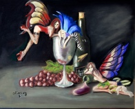 wine Fairies painting
